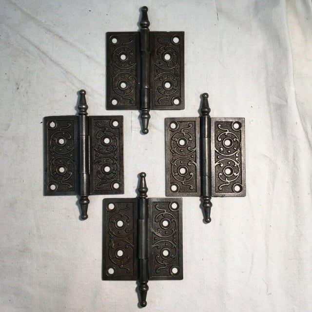 These beautiful Eastlake Victorian door hinges are made out of a heavy iron and are perfect for any period or Victorian-...