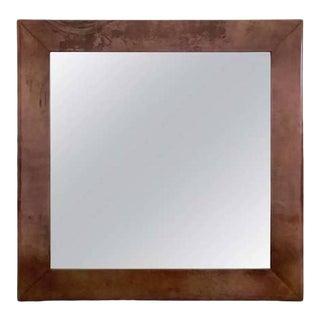 Aldo Tura Purple Goatskin Mirror For Sale