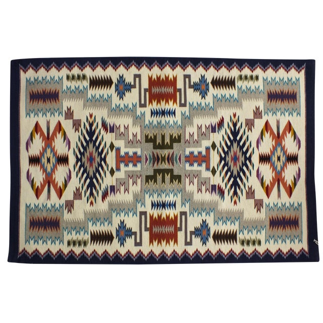 """Navajo Rug Storm Pattern, Lily Touchin -- 2'10"""" x 4'2"""" For Sale"""