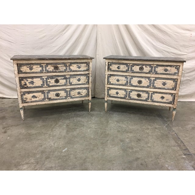 Pair of Italian Painted Chests / Commodes - 18th C For Sale - Image 11 of 13