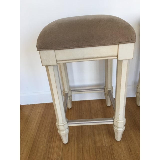 Tan Backless Counter Stools - Set of 3 - Image 3 of 5