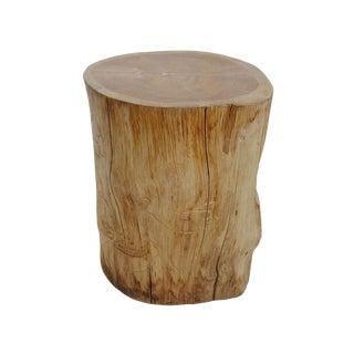 Teak Stump Side Table / Stool For Sale