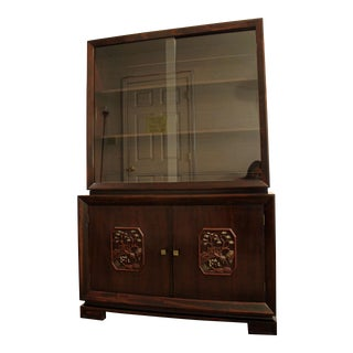James Mont Mid-Century Asian Ming-Style Mahogany Display/China Cabinet