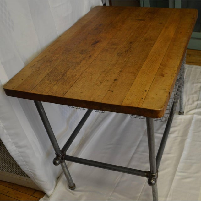 Maple Top Kitchen Island with Sliding Baskets - Image 4 of 9