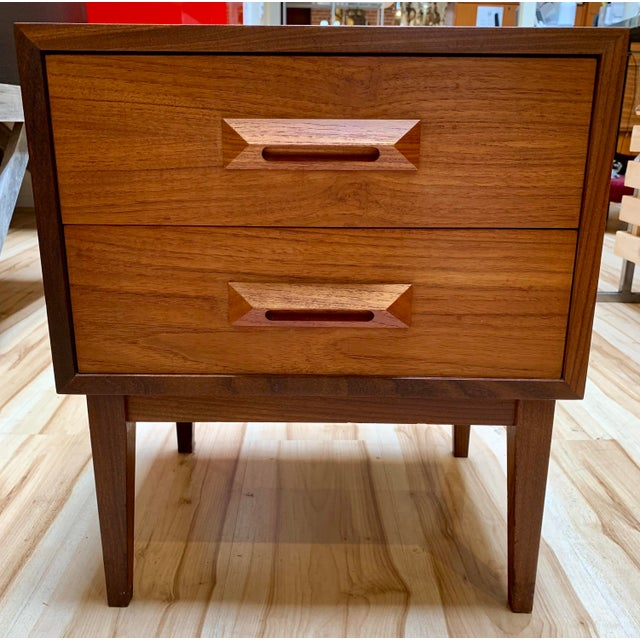 1960s Danish Modern Teak and Rosewood Nightstand For Sale In Sacramento - Image 6 of 13