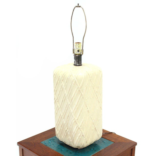 Early 20th Century Faux Bamboo Decorated Pattern Table Lamp For Sale - Image 5 of 9