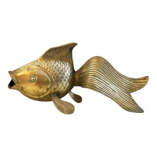 Giant Two Foot Brass Koi Fish For Sale