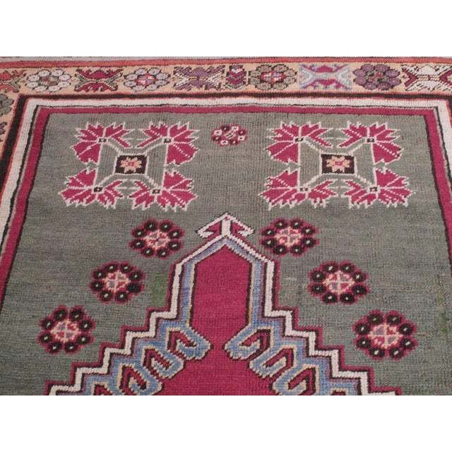 Mid 19th Century Antique Kirsehir Rug For Sale - Image 5 of 8