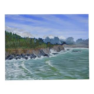 Ocean Cove Acrylic Painting