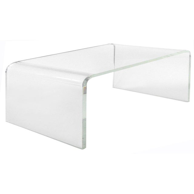 2010s Modern Waterfall Coffee Table For Sale - Image 5 of 5