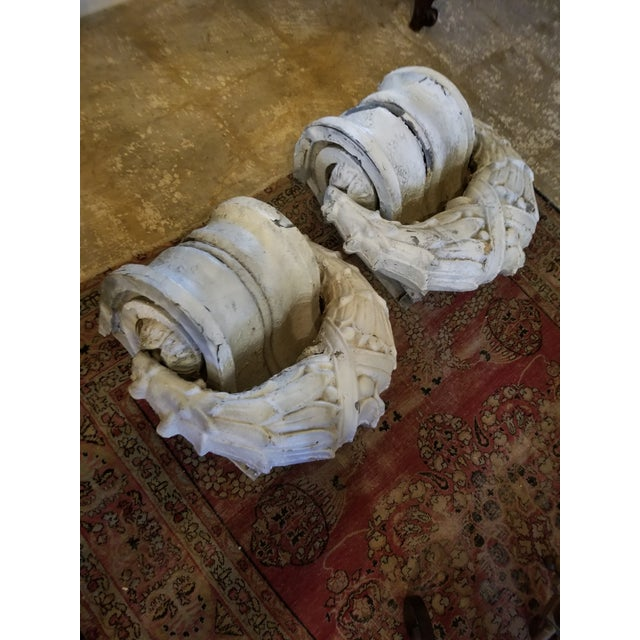 Crusty Antique Zinc Architectural Fragments For Sale - Image 13 of 13