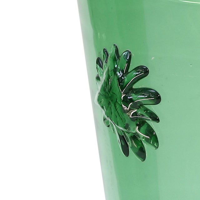 Empoli Italian Green Glass Vase by Empoli For Sale - Image 4 of 7