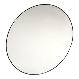Modern/Minimalistic Gold Round Wall Mirror For Sale