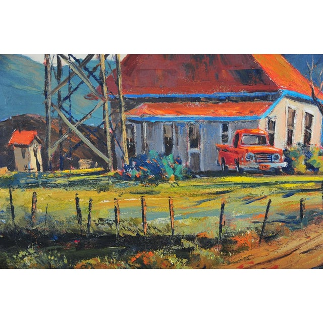 Red Roof Farm House -Oil Painting by Ben Abril - Image 5 of 11