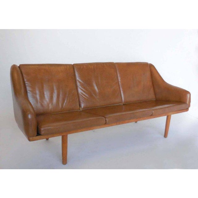 Danish Leather Sofa by Poul Volther For Sale - Image 9 of 9