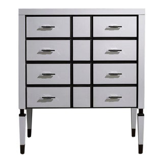 White Finish Chest of Drawers by Jacobo Ventura for CA Spanish Handicraft For Sale