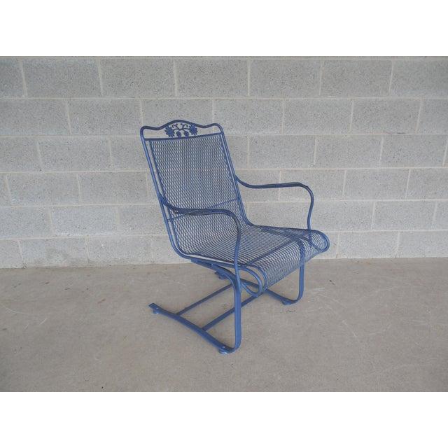 Vintage Woodard Briarwood High Back Spring Base Chair Model #1A052904 - Image 4 of 8