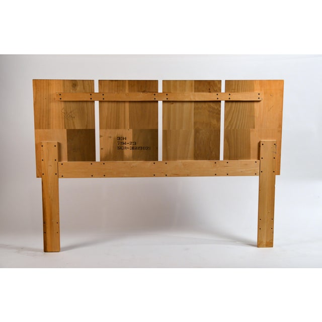 Wood Minimalist Burl Wood Queen Size Headboard by Lane For Sale - Image 7 of 8