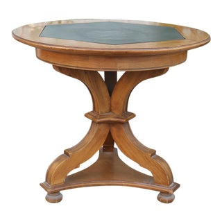 Vintage Traditional Wooden Round Side Table For Sale