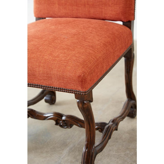 Louis XIII Set of Sixteen French Os De Mouton Style Dining Chairs For Sale - Image 3 of 13