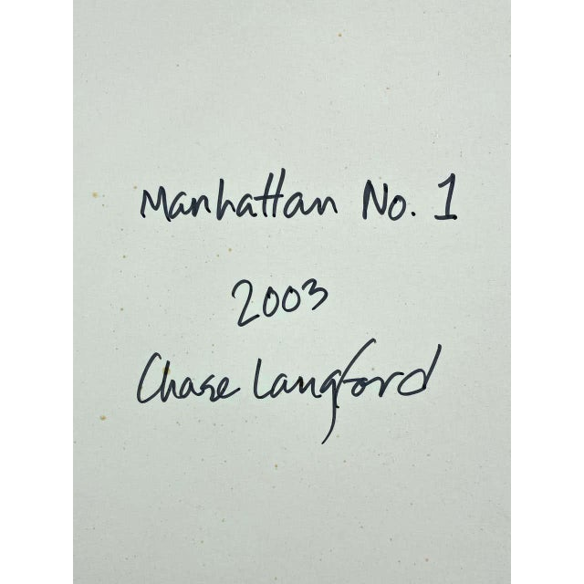 """Chase Langford """"Manhattan No. 1"""", Expressionist Oil Painting, 2003 For Sale - Image 12 of 13"""