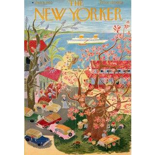 Vintage 1955 New Yorker Cover, January 8 (Ilonka Karasz), Vacations For Sale