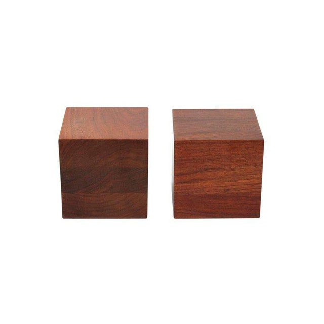1960s Walnut Martz Bookends For Sale - Image 5 of 11