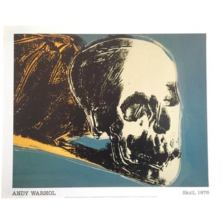 "Andy Warhol Foundation Offset Lithograph Print Pop Art Poster "" the Skull "" 1976 For Sale"