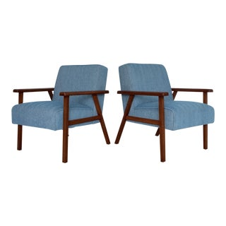 Danish Mid-Century Modern Lounge Chairs - a Pair