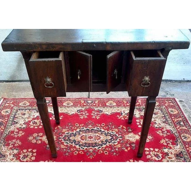 Brown 17th Century Spanish Walnut Campaign or Tavern Table For Sale - Image 8 of 11
