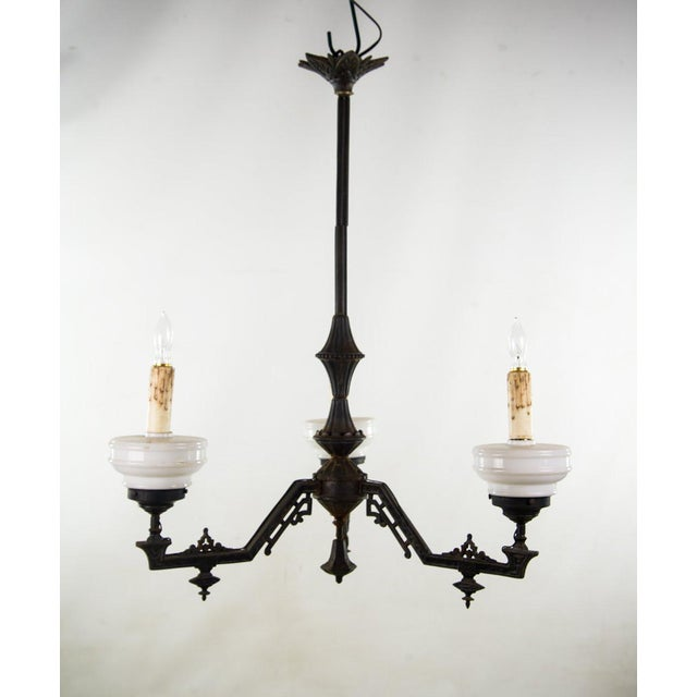 Late 19th Century C Victorian East Lake Style 3 Light Chandelier For