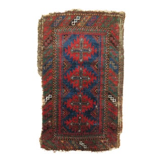 19th Century Balouch Rug, 1'6'' x 2'2'' For Sale