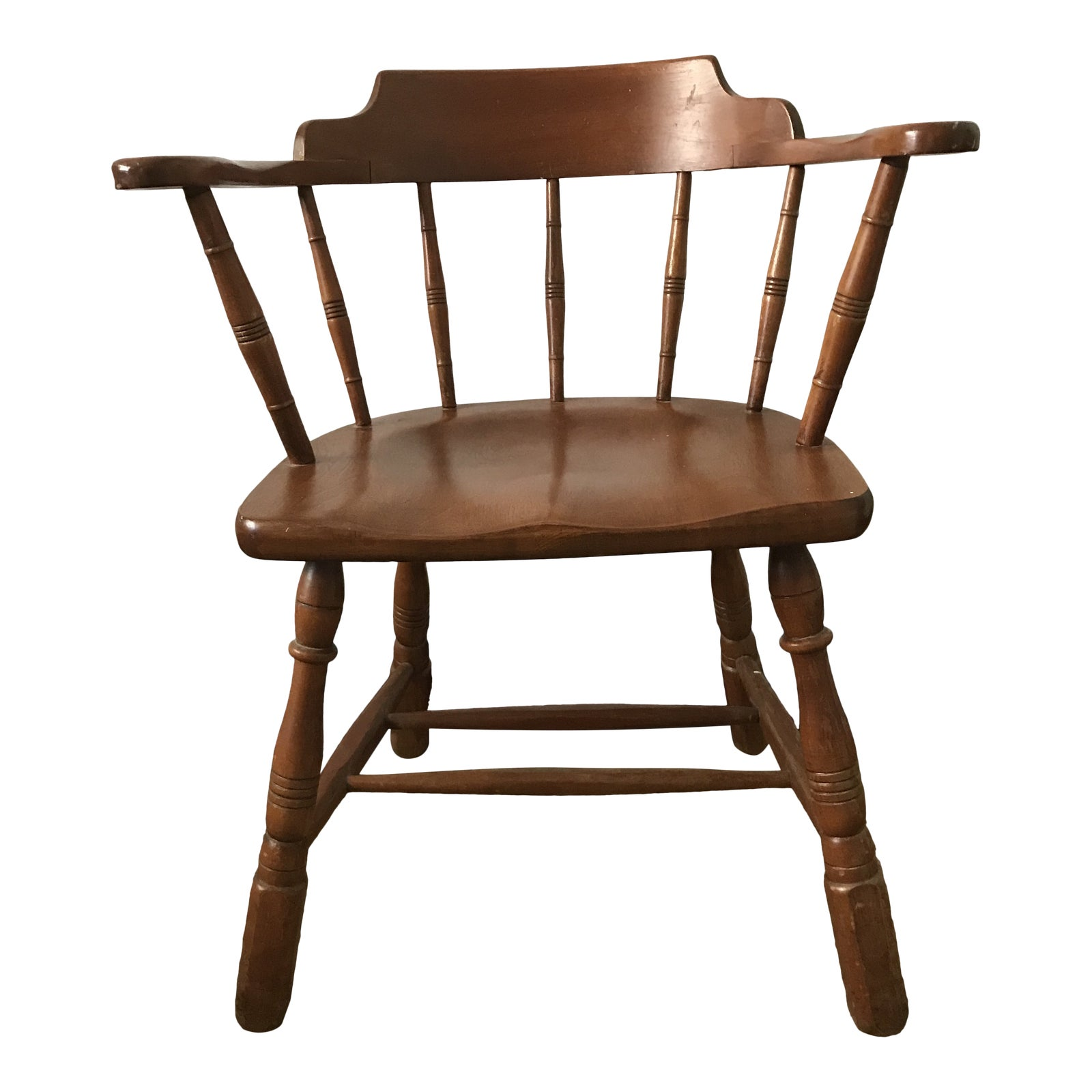 Mid 20th Century Vintage Temple Stuart Solid Hard Rock Maple Colonial Dining Side Chair Chairish
