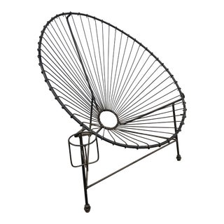 Vintage Mid Century Metal Hoop Chair For Sale