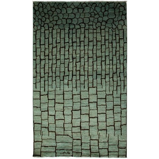 """Moroccan, Hand Knotted Area Rug - 4'10"""" X 7'10"""" For Sale"""