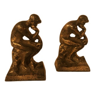Rodin's 'The Thinker' Bronze Bookends - a Pair For Sale