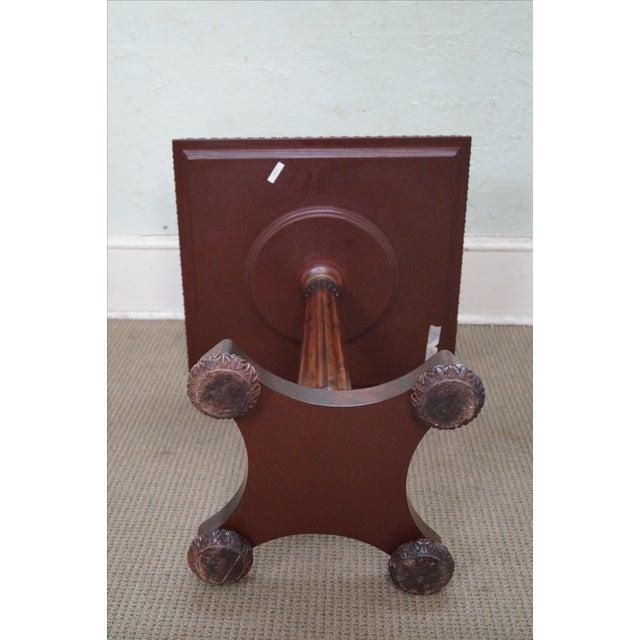 Jonathan Charles Mahogany Checker Board Side Table For Sale - Image 10 of 10