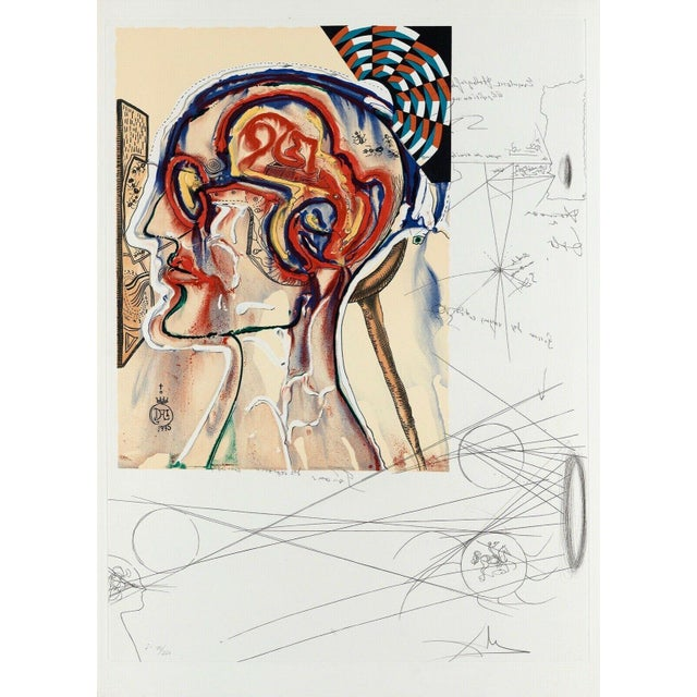 """1975 """"Spectacles With Holograms & Computers"""" Limited Edition Lithograph After Salvador Dali For Sale"""