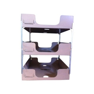 Steelmaster Horizontal Three Tier Tray For Sale