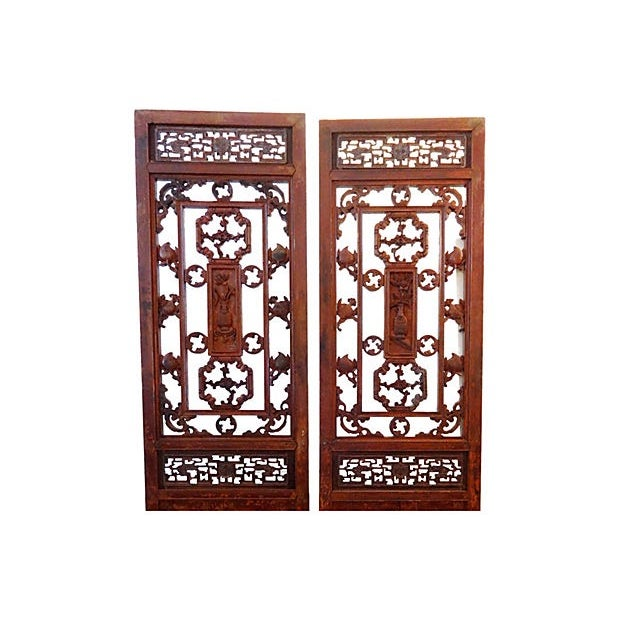 Antique Chinese Doors - A Pair - Image 2 of 8