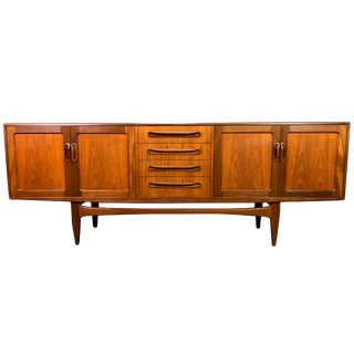 "Vintage British Mid Century Modern Teak ""Fresco"" Credenza by G Plan For Sale"