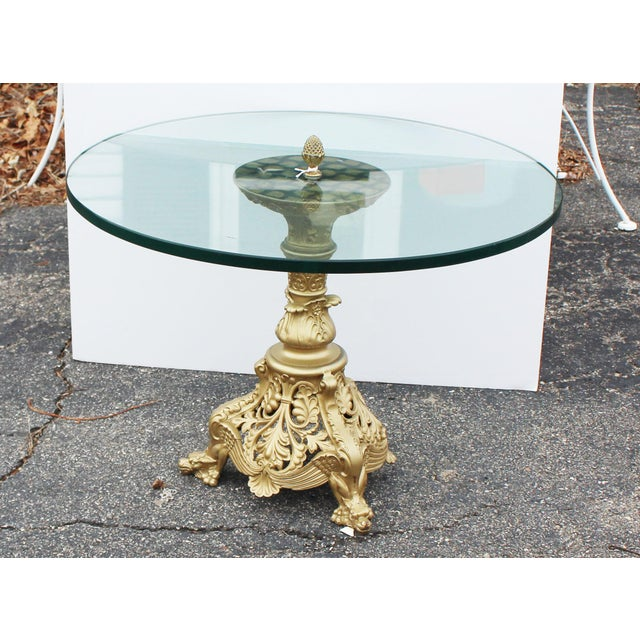 Gold Gilt Art Nouveau Table For Sale - Image 8 of 8