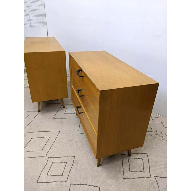 1940s Pair of Mid-Century Modern Bachelor Chest, Commodes or Dressers For Sale - Image 5 of 13