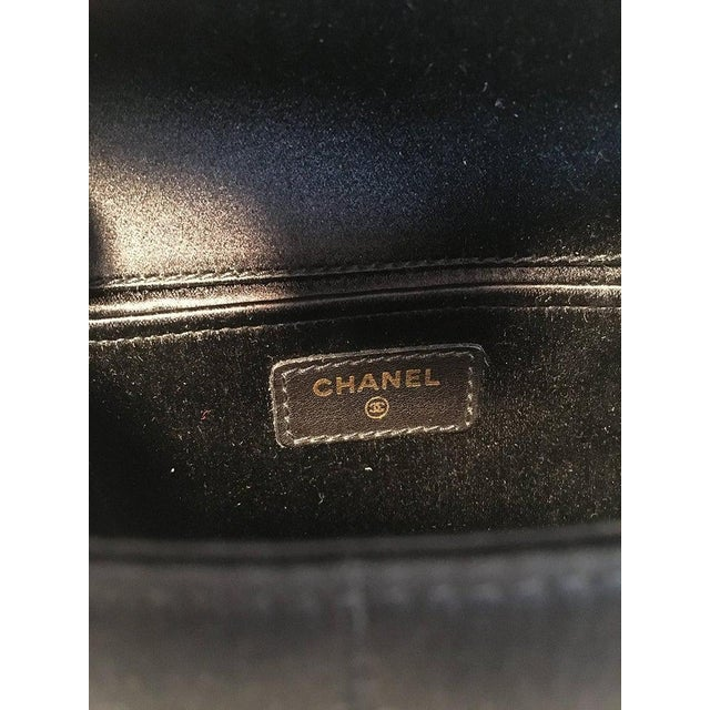 Chanel Quilted Black Silk Mini Camellia Classic Flap Shoulder Bag For Sale - Image 10 of 12