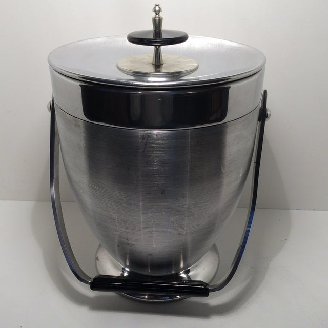 Kromex Brushed Stainless Steel & Chrome Ice Bucket For Sale - Image 11 of 11
