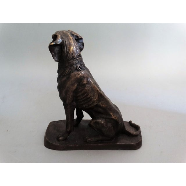 Bronze Early French Bronze Sporting Dog For Sale - Image 7 of 8