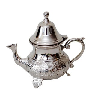 Moroccan Silver Tea Pot For Sale