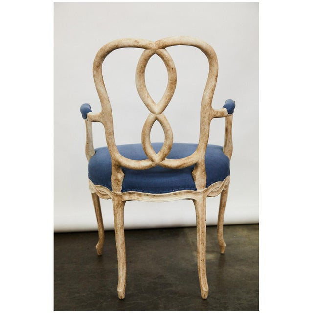 Fabric Pair of Bergere Chairs For Sale - Image 7 of 9