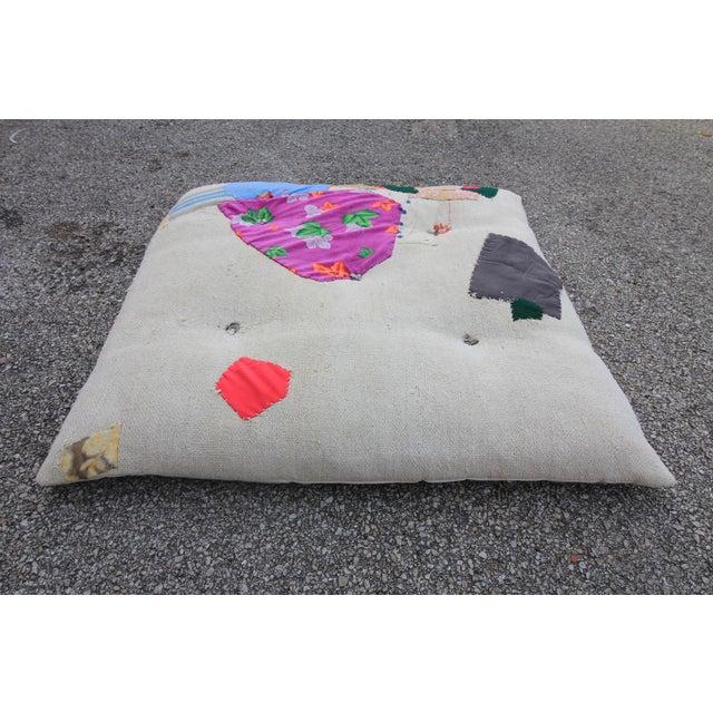 Vintage Turkish Hemp Floor Pillow - Image 3 of 5