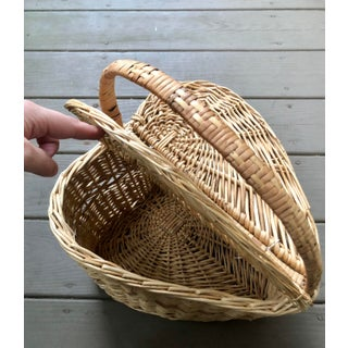 Vintage Mid-Century Heart Shaped Picnic Basket Preview